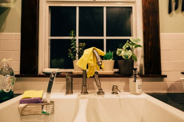 how-to-unclog-a-double-kitchen-sink-with-standing-water